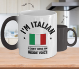 Italian Inside Voice Color Changing Mug