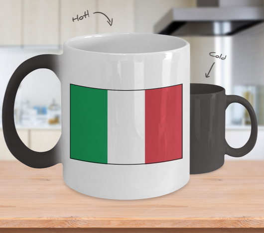 Italian Flag Color Changing Mug