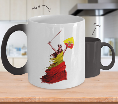 Sicilian Woman Warrior Color Changing Mug