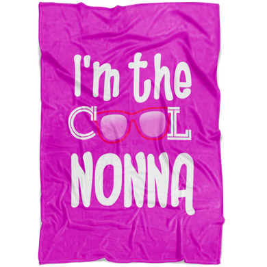 I'm the Cool Nonna Pink Fleece Blanket