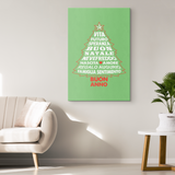 Italian Christmas Tree Canvas Wall Art Portrait