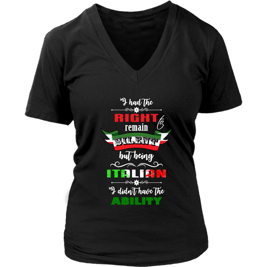 I Had the Right to Remain Silent I Women's Shirt