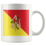 Sicilian Flag White 11oz Mug