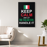 Let The Italian Girl Handle It Canvas Wall Art Portrait