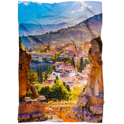 Sicily Fleece Blanket - Portrait
