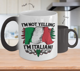 Not Yelling Italian Color Changing Mug