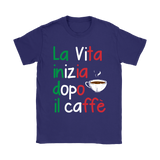 Life Begins After Coffee Shirt