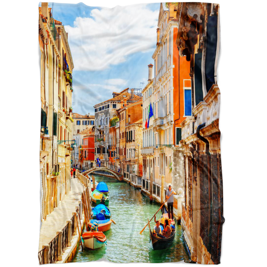 Venice II Fleece Blanket - Portrait
