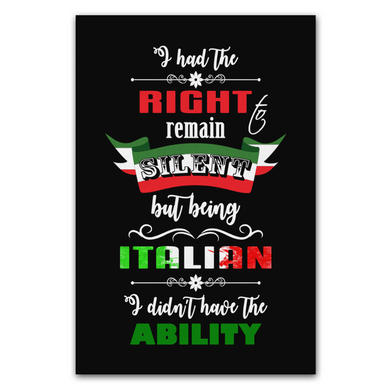 I Had the Right to Remain Silent I Wall Art Portrait