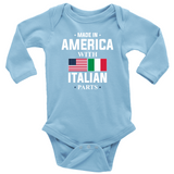 Made in America with Italian Parts Long Sleeve Baby Onesie
