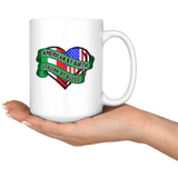 American By Birth Italian By Blood 15oz Mug