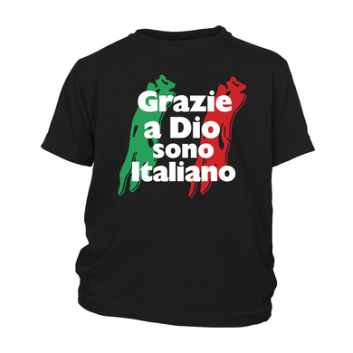 Thank God I'm Italian Kids Shirt