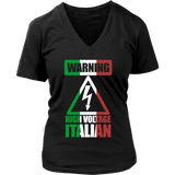 Warning High Voltage Italian Shirt