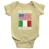 Italian My Nation My Heritage Baby Onesie
