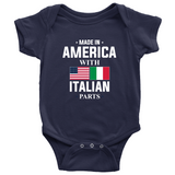 Made in America with Italian Parts Baby Onesie