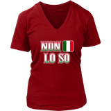 Italian I Don't Know Shirt