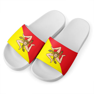 Sicilian Flag White - Kids Slide Sandal
