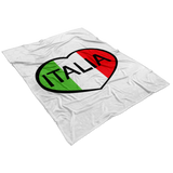 Italia Heart Fleece Blanket