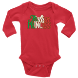 Italian Princess Long Sleeve Baby Onesie