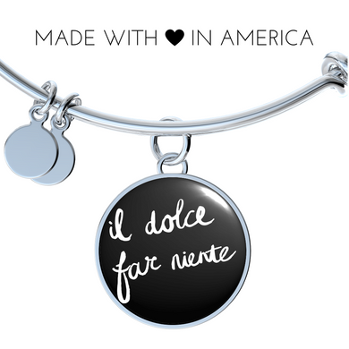 Italian Sweetness of Doing Nothing with Circle Charm Bangle