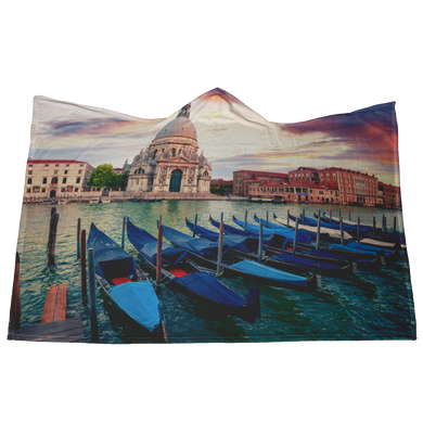 Venice Hooded Blanket with Mittens