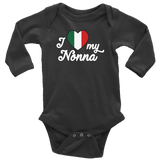 I Love My Nonna Long Sleeve Baby Onesie - Sale