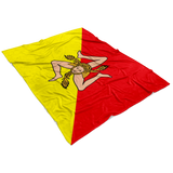 Sicilian Flag Fleece Blanket