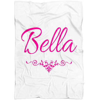Bella Pink Fleece Blanket