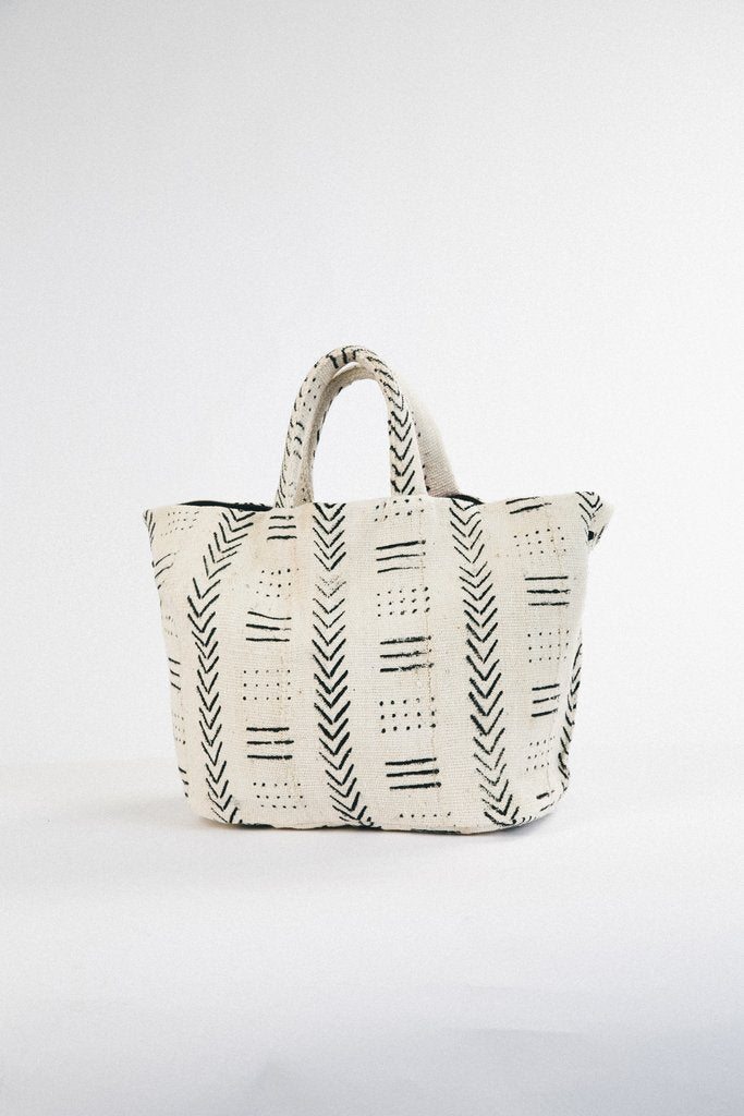 African Print and Leather Tote