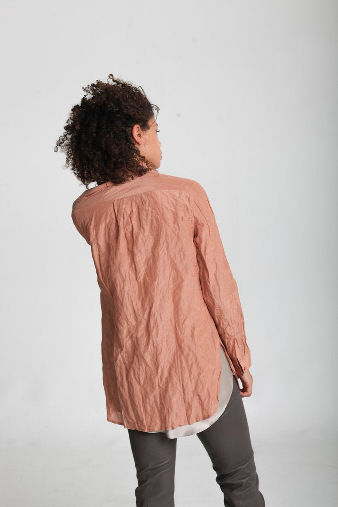 Crinkle Button Shirt - indosso
