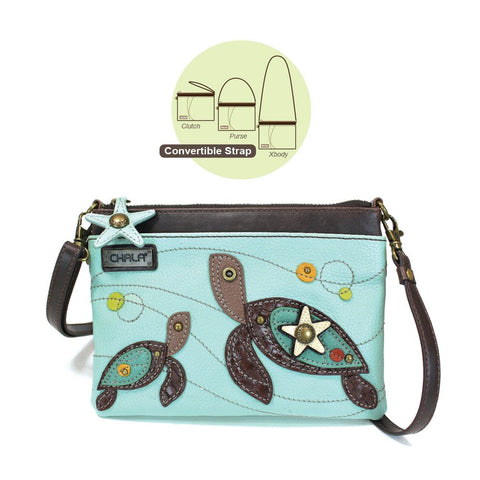 Chala Mini Crossbody - Two Turtles