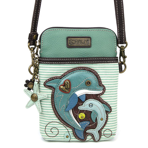 Chala - Cell Phone Xbody Purse - Dolphin
