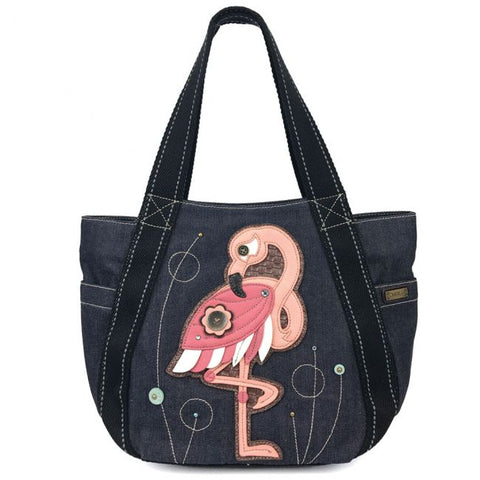Chala Carryall Zip Tote Bag - Flamingo