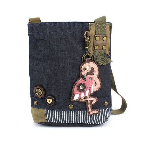 Chala Patch Crossbody - Flamingo Denim