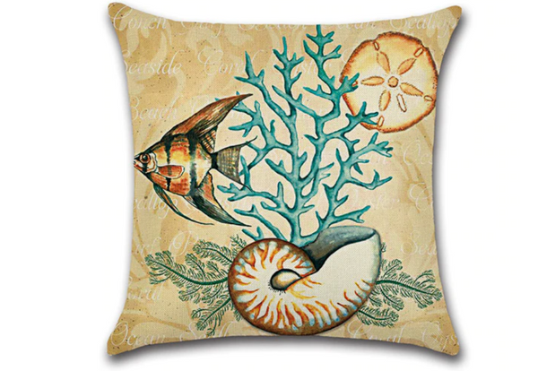 Pillow Covers - Seahorse with Shells