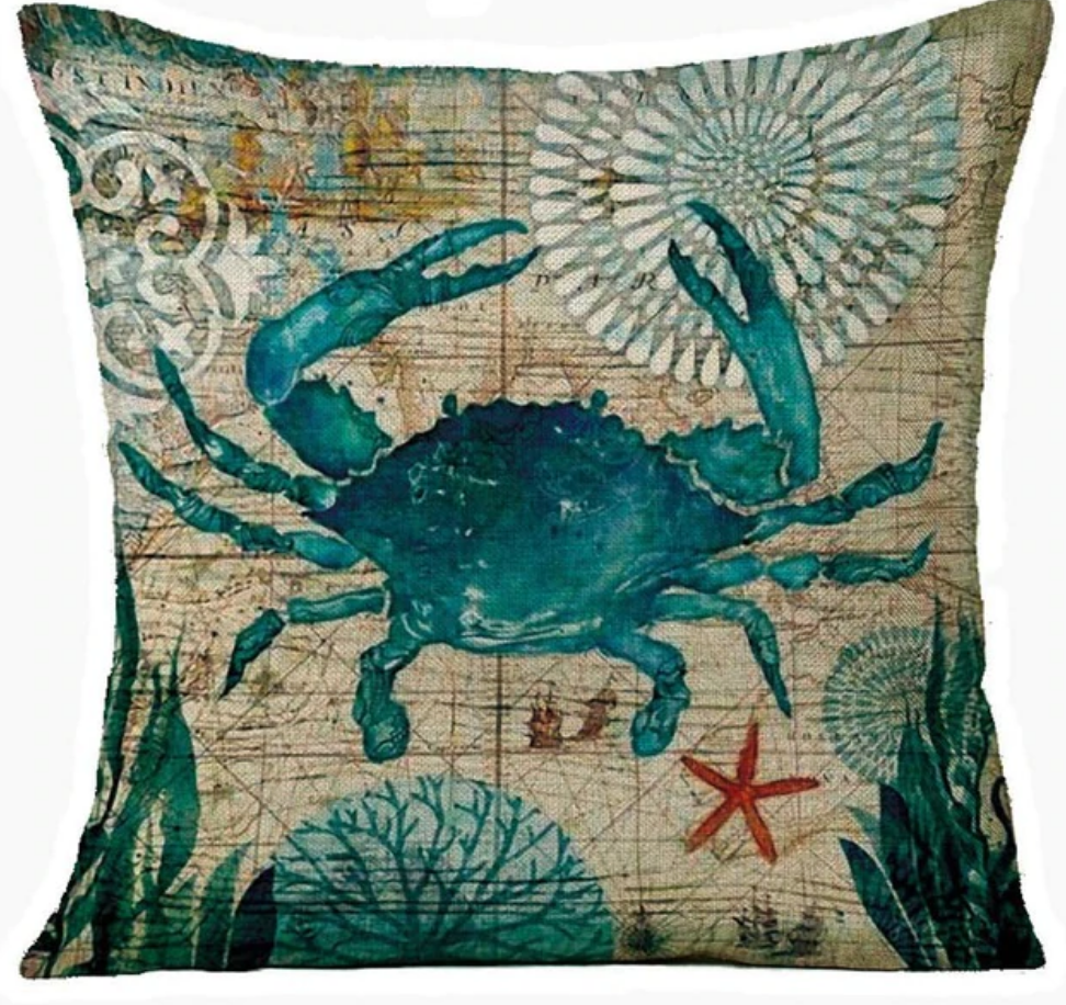 Pillow Covers - Crab