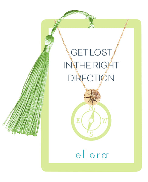 Life's Adventures - Compass Necklace - Gold