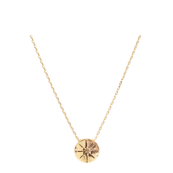 Compass Necklace with Bookmark - Gold