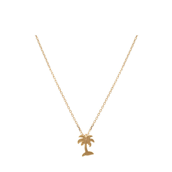 Tropical State of Mind - Palm Tree Necklace - Gold