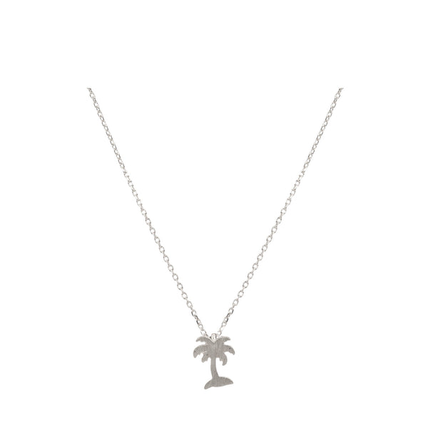 Palm Tree Necklace  with Bookmark - Silver