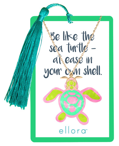 Tropical State of Mind - Sea Turtle Necklace - Gold