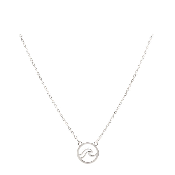 Wave Necklace with Bookmark  - Silver