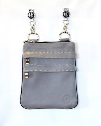 Hip Klips Genuine Leather - Light Gray