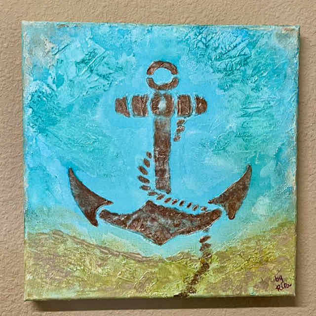 Anchors Away Acrylic Painting