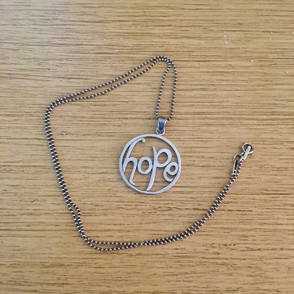 Inspirational Necklace - Sterling Silver Hope Necklace