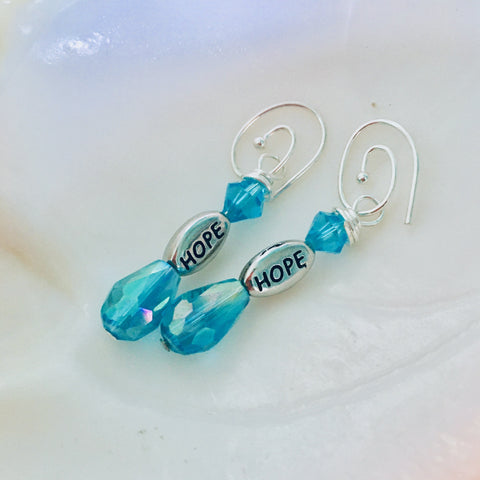 Hope Earrings with Swarovski Crystal Beads