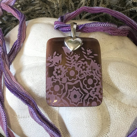 Necklace - Lavender Fields Pendant