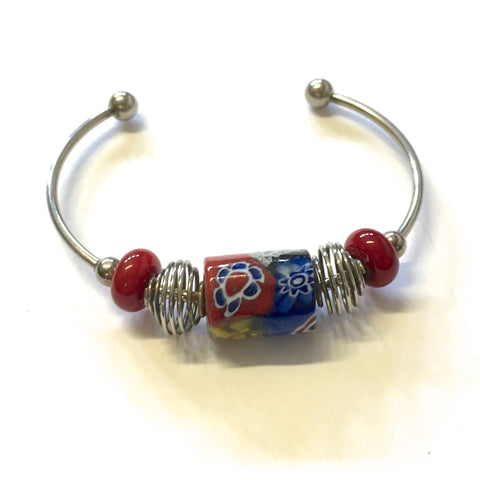 Bangle - Tribal Glass Bead