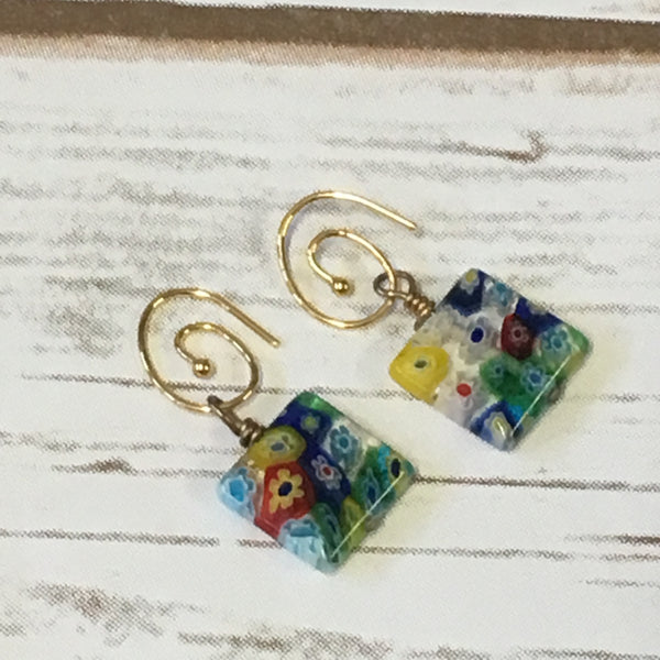 Earrings - Millefiori Glass