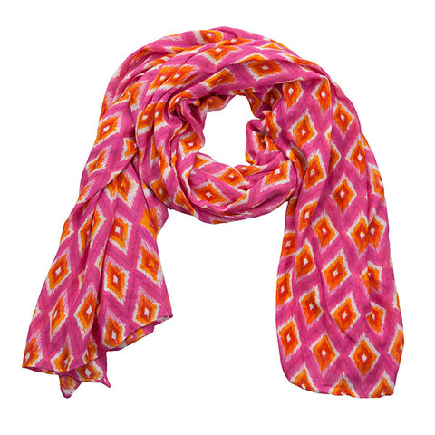 Wrap - Dark Pink/Orange/White